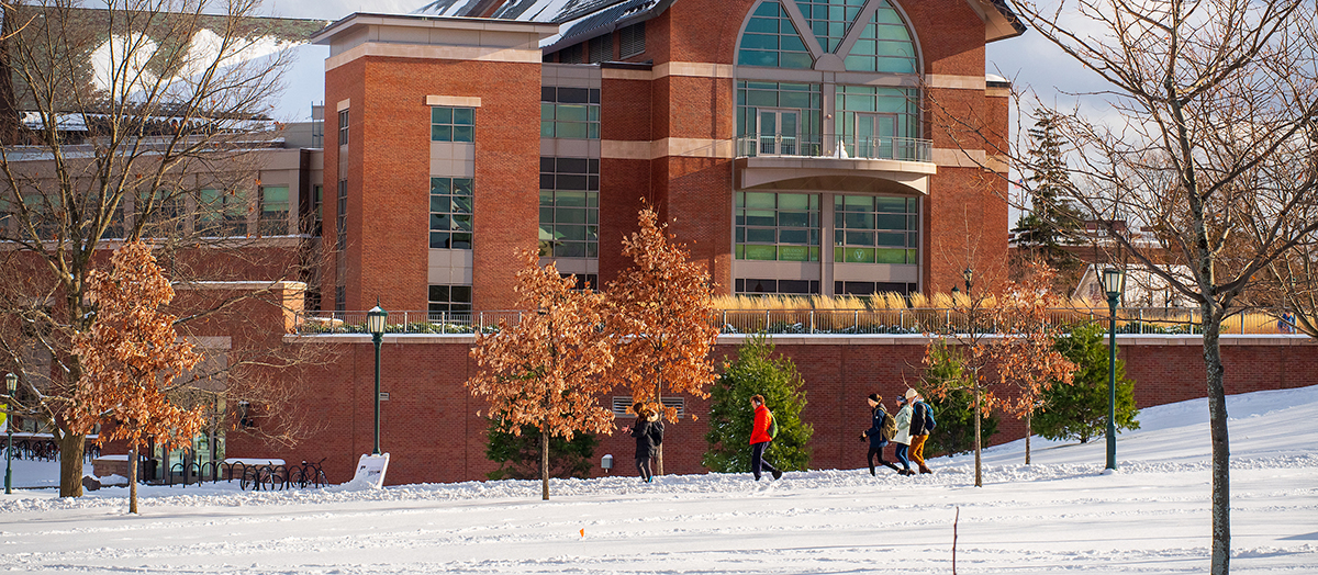 University of Vermont Davis Center in winter