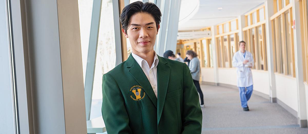 UVM student Key Nguyen in Boulder Society blazer
