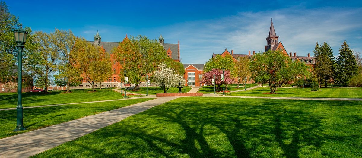 University of Vermont green in spring