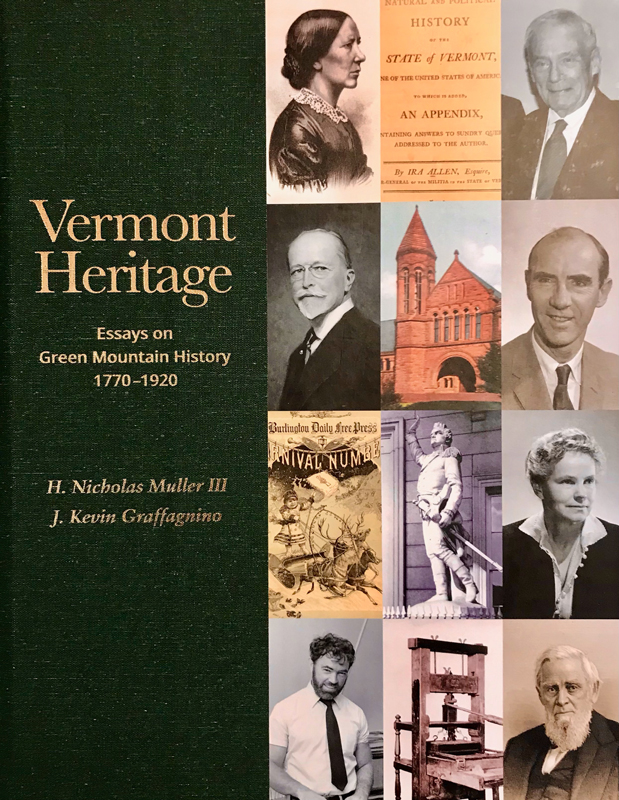 """Cover of book """"Vermont Heritage: Essays on Green Mountain History 1770-1920"""""""