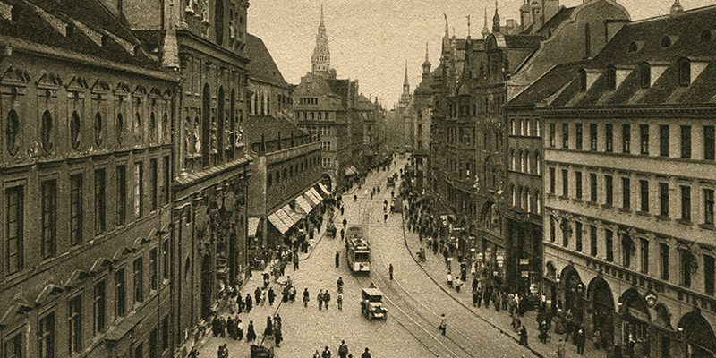photograph of a prosperout Munich before WW II