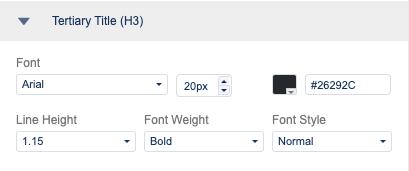 Tertiary (H3) title settings