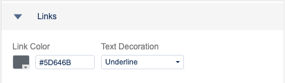 settings for linked text