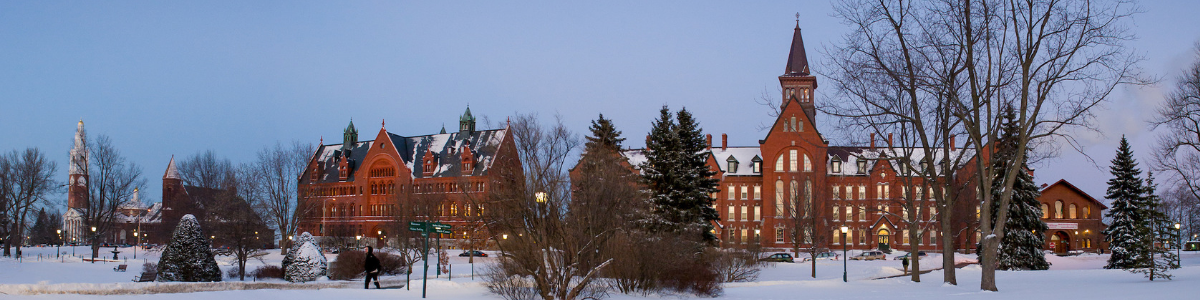 UVM University Green in the Snow
