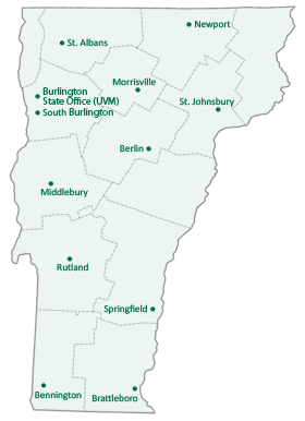 Map of UVM Extension Locations