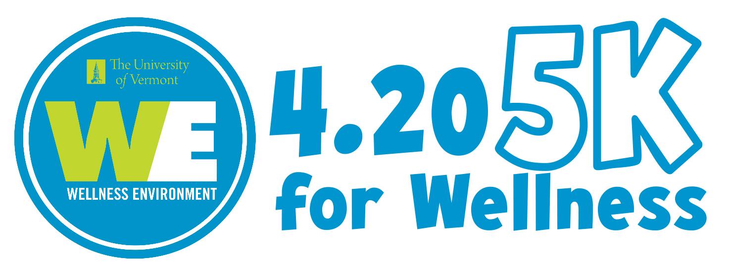 UVM WE 4/20 5K for Wellness Logo