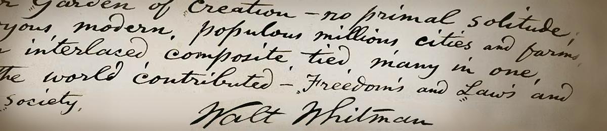 Walt Whitman text.