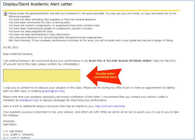 Academic alert system center for academic success the university academic alert 2 expocarfo