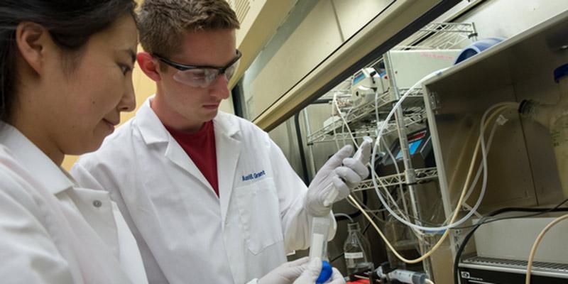 Austin Grant in laboratory