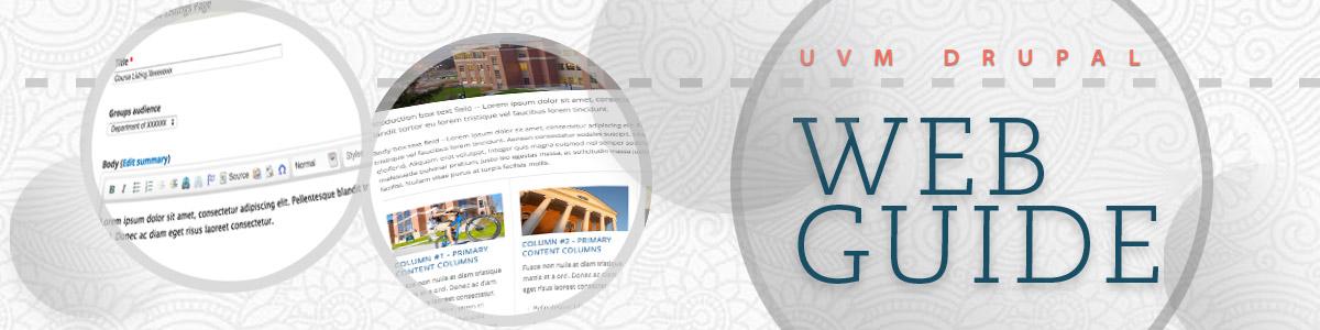 UVM Drupal Web Guide