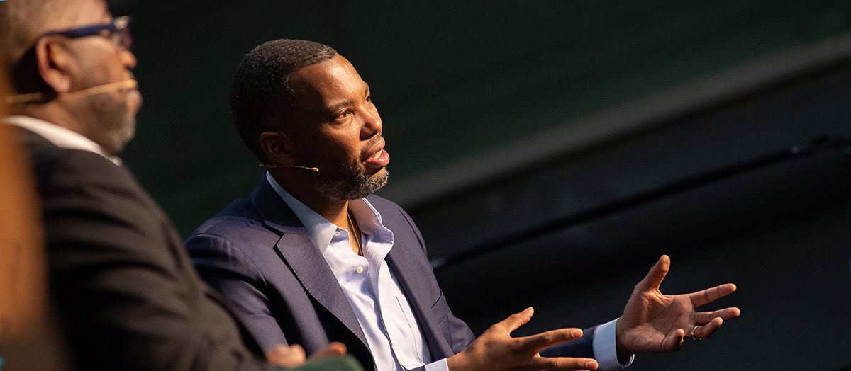 Poet Major Jackson and author Ta-Nehisi Coates