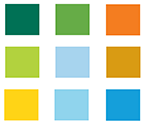color pallet squares