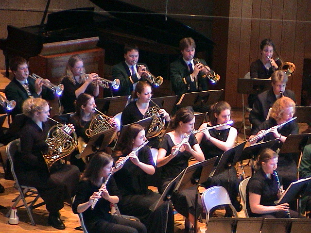 The Concert Band performs