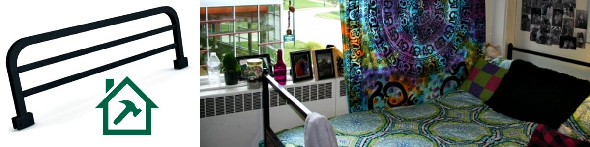 student room, bed safety rail