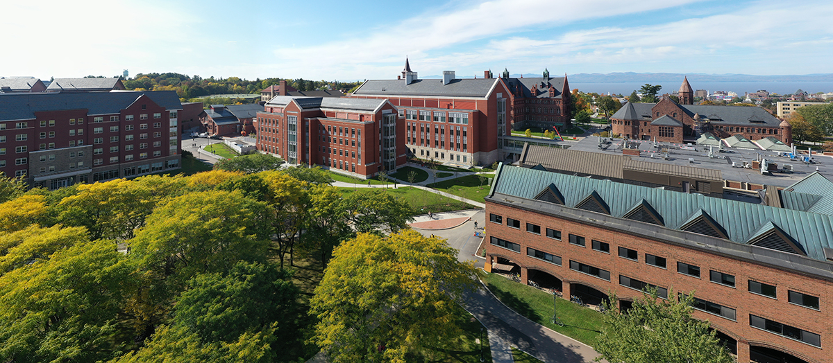 UVM's Central Campus from above
