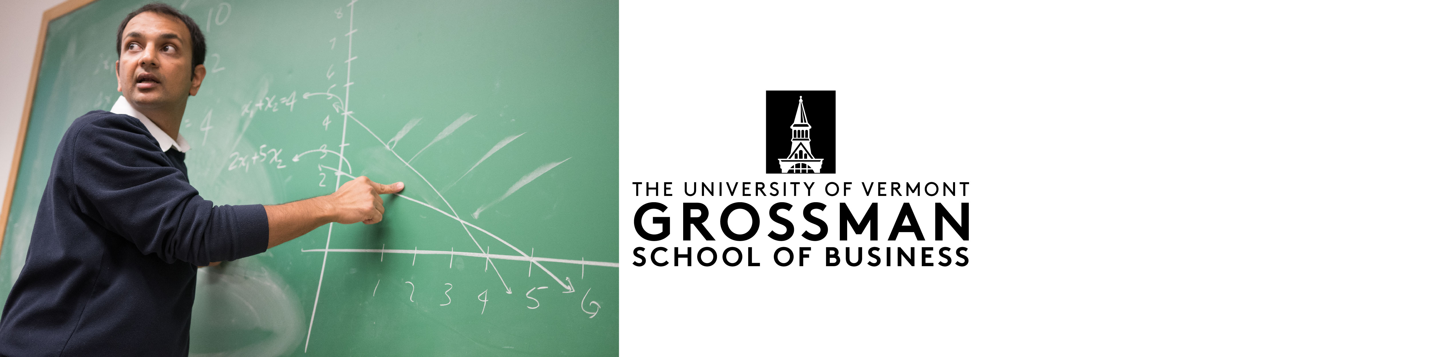 uvm, grossman school of business, Grossman Asst. Professor and UVM Kroepsch-Maurice Excellence in Teaching Award Winner Akshay Mutha