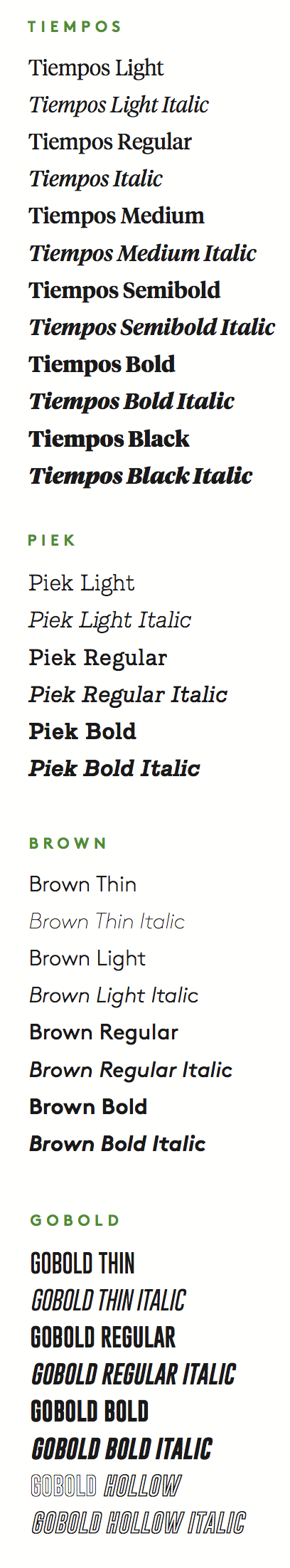 Type Usage | University of Vermont Creative Style Guide | The