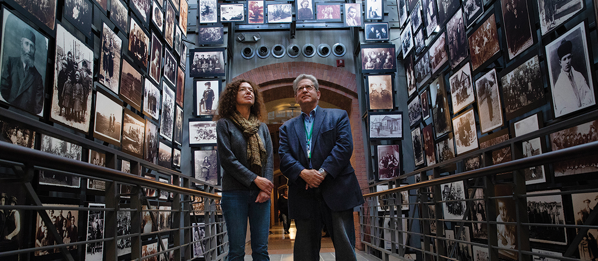 UVM Holocaust scholars stand in the Holocaust Museum