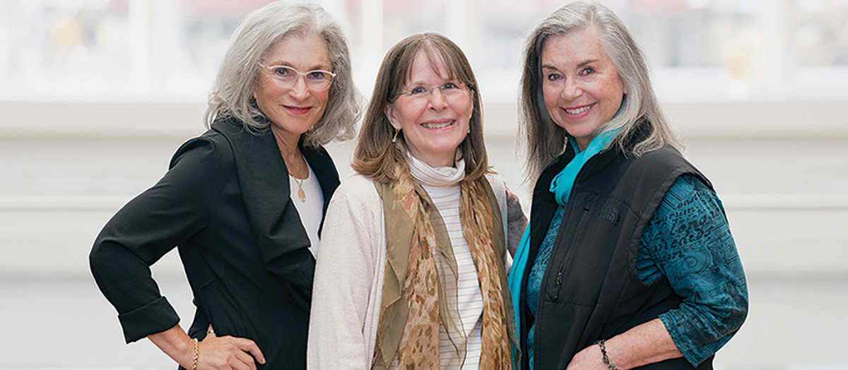 JogBra inventors Hinda Miller, Lisa Lindahl and Polly Smith at the National Inventors Hall of Fame