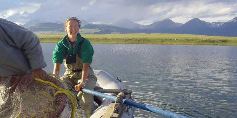 Frances Iannucci rowing boat