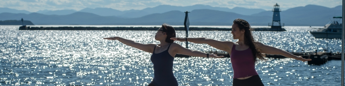 Yoga by Lake Champlain