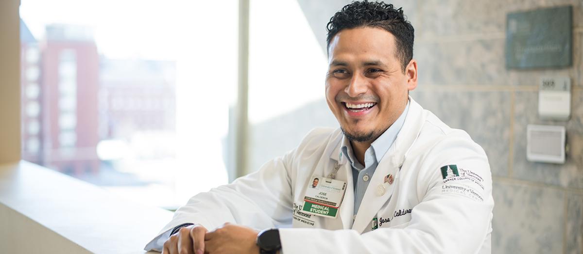 UVM medical student Jose Calderon