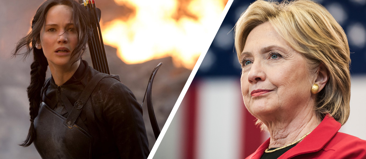 Hunger Games' Katniss Everdeen and Hillary Clinton
