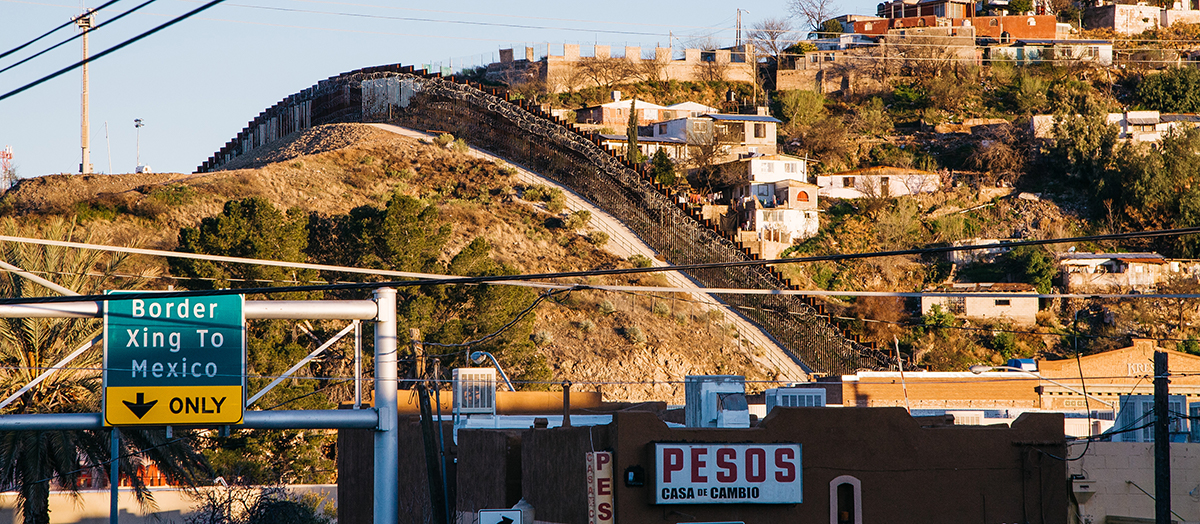 The United States-Mexico border wall