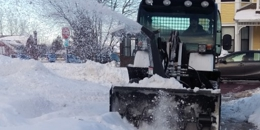 snowplow on sidewalk