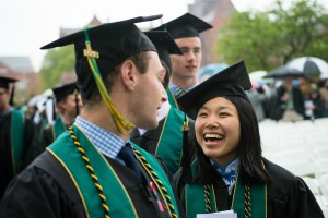 Two students at 2018 Commencement