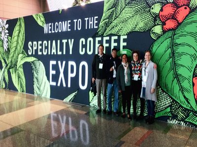 Ernesto Mendez with his research team atttending the May 2019 Coffee Expo in Mexico