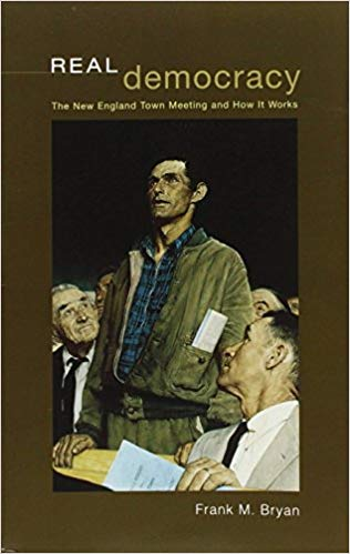Cover image of Frank Bryan's book, Real Democracy.