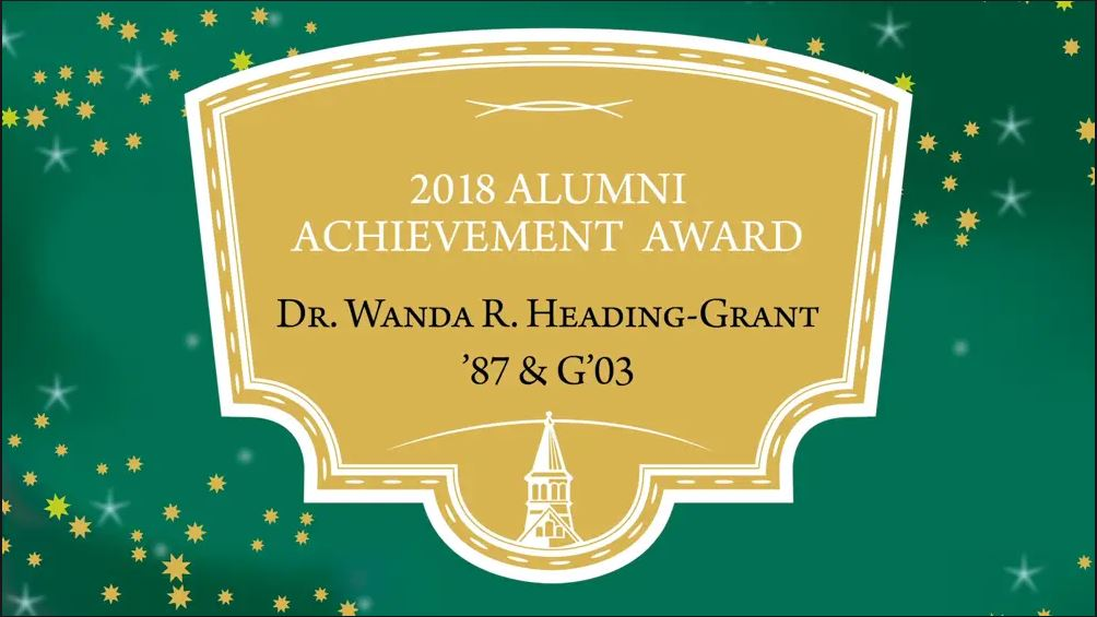 Alumni Achievement Award: Dr. Wanda Heading-Grant
