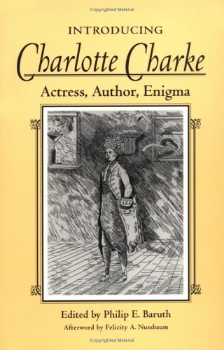 cover of Introducing Charlotte Charke: Actress, Author, Enigma by Philip Baruth