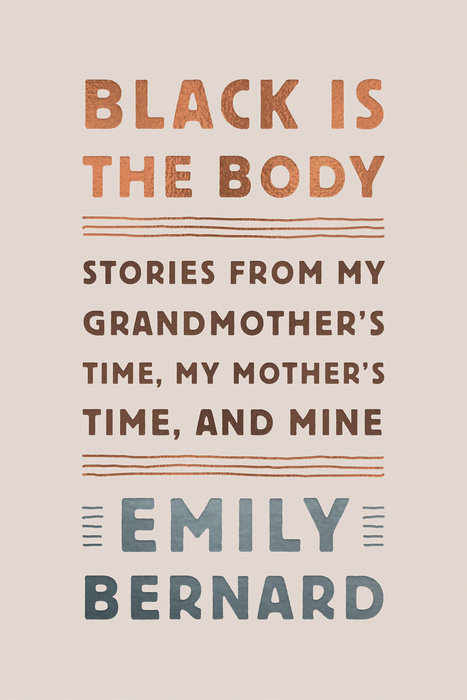 cover of Black is the Body by Emily Bernard