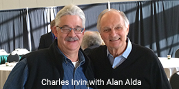 Charles Irvin and Alan Alda