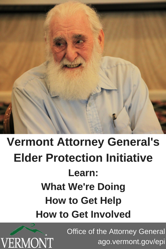 Vermont Attorney General's Elder Protection Initiative