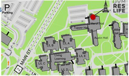map of Robinson Hall summer location