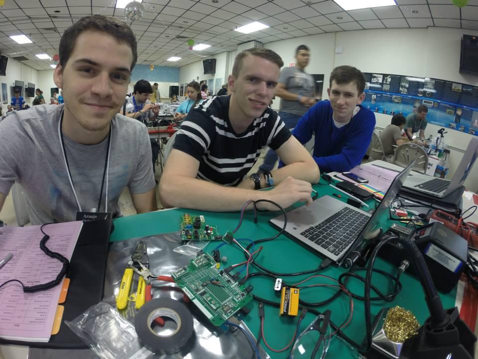 The students attending RockOn Octavio Araujo (UVM), Gregory Swain (UVM) and Austin Blum from Norwich University.