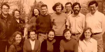 Photo of all Unit staff from the 1990s