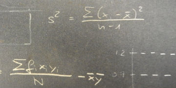 Photo of statistical equations