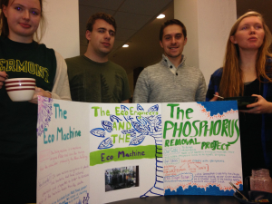 The phosphorus removal project--students featuring poster from it.