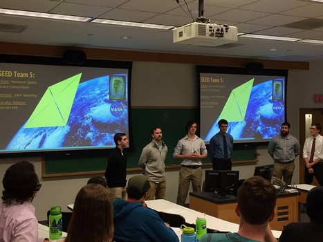UVM CubeSat Solar Sail student design team completing their preliminary design review