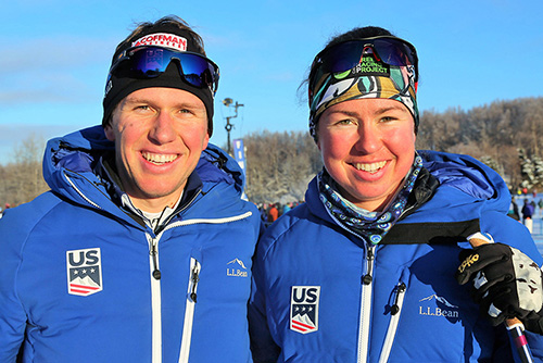 UVM Olympians atterson siblings (above), cross-country skiers Scott '14 and Caitlin '12.