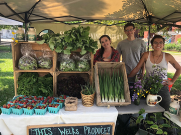 Selling UVM Catamount Farm Produce at a Local Farmers' Market
