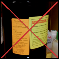 Example of how you should not use double labels