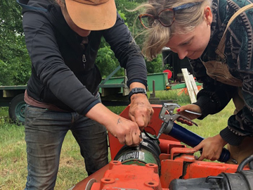 UVM Catamount Farm Tractor Maintenance with Students