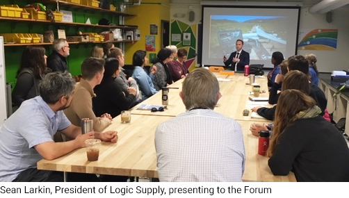 Sean Larkin, President of Logic Supply, presenting to the Forum