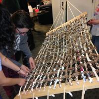 students making a hamock for program