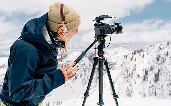 UVM alumna Hilary Byrne films on mountainside